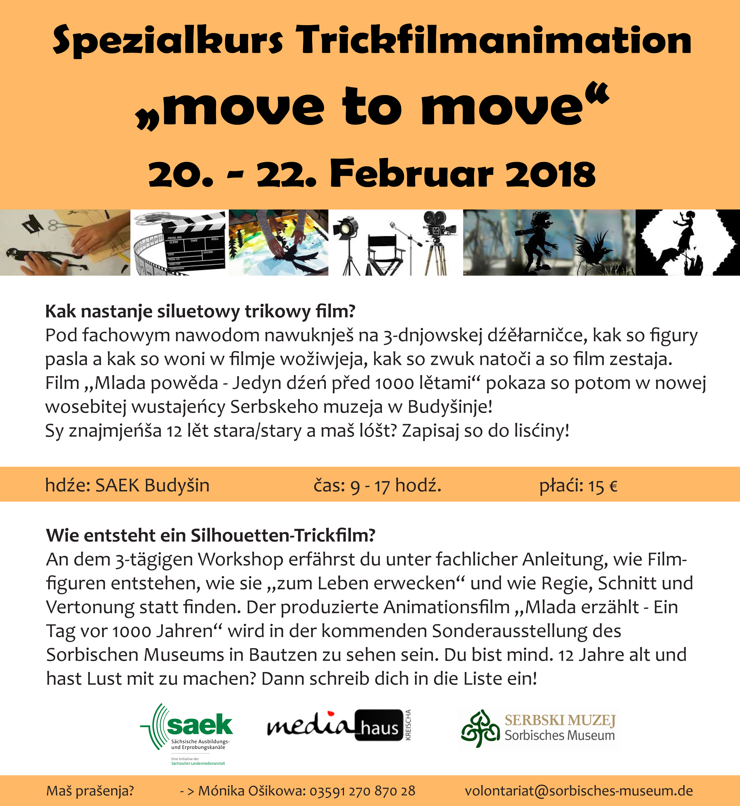 "WORKSHOP ""move to move"" – Noch Plätze frei!"