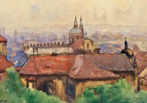 Blick vom Hradschin auf Prag