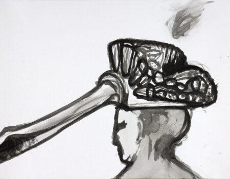 wšědny dźeń 05 wopłokowanska šćětka, 2020, tušowa rysowanka