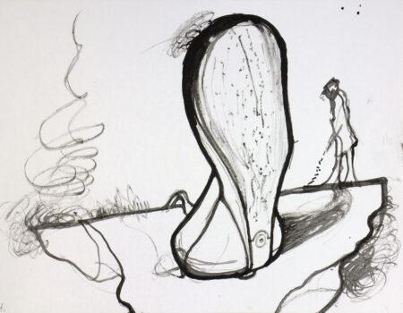 wšědny dźeń 14 wótřerěčak, 2020, tušowa rysowanka